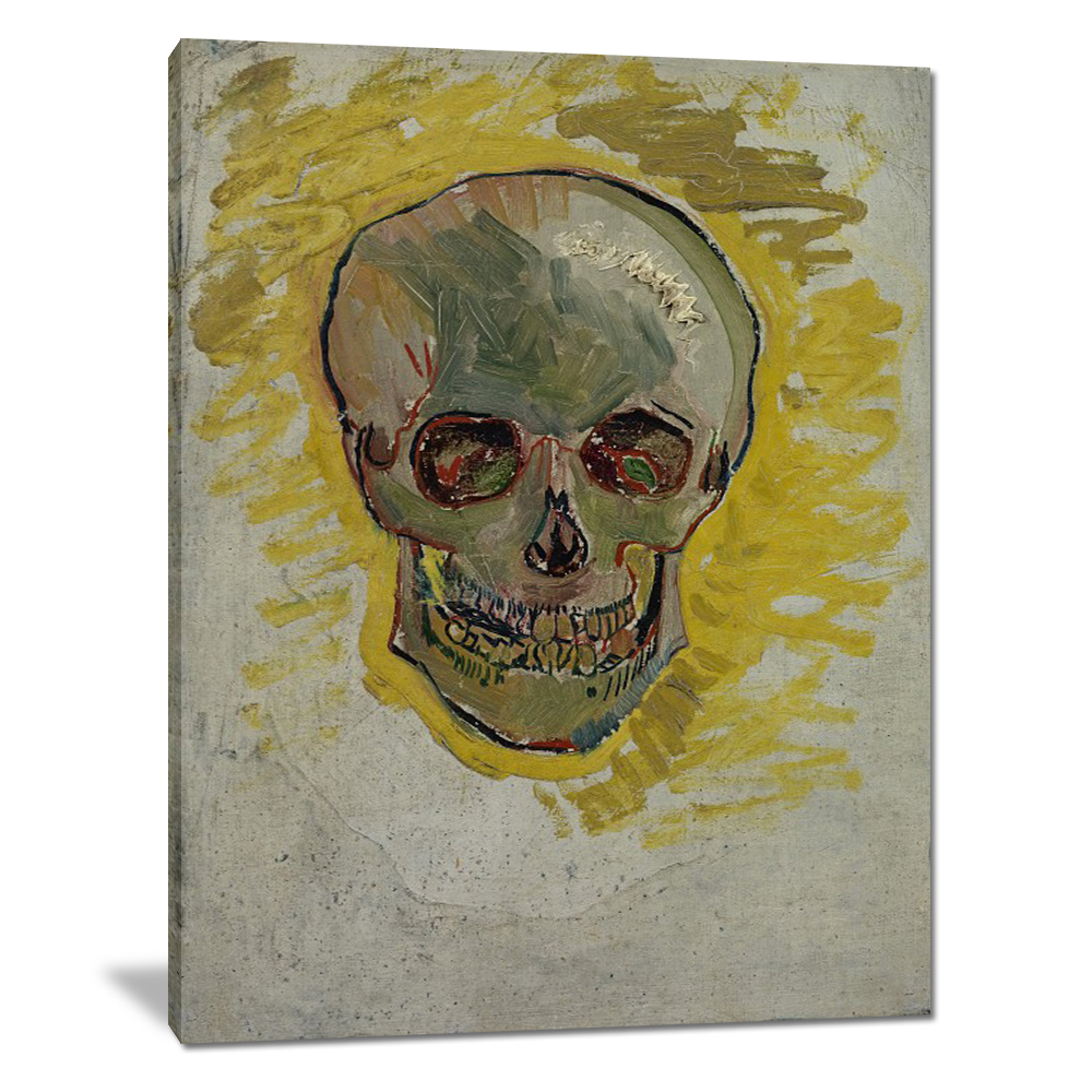 Famous Artwork Van Gogh Head Skeleton Pictures Custom No Frame Canvas Printing