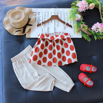 Hot Sale Summer Girls Floral Top With Sports Icing Pants 2pcs Outfits Little Girls Clothes Sets