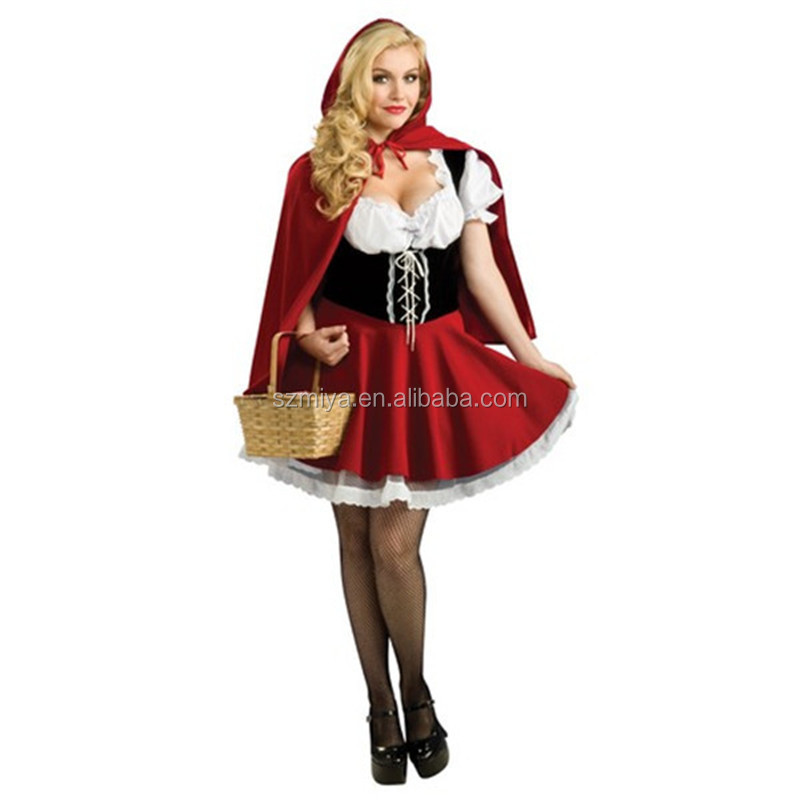 Halloween Little Red Riding Hood Ladies Costume Fancy Dress Party Outfit Cosplay Costume
