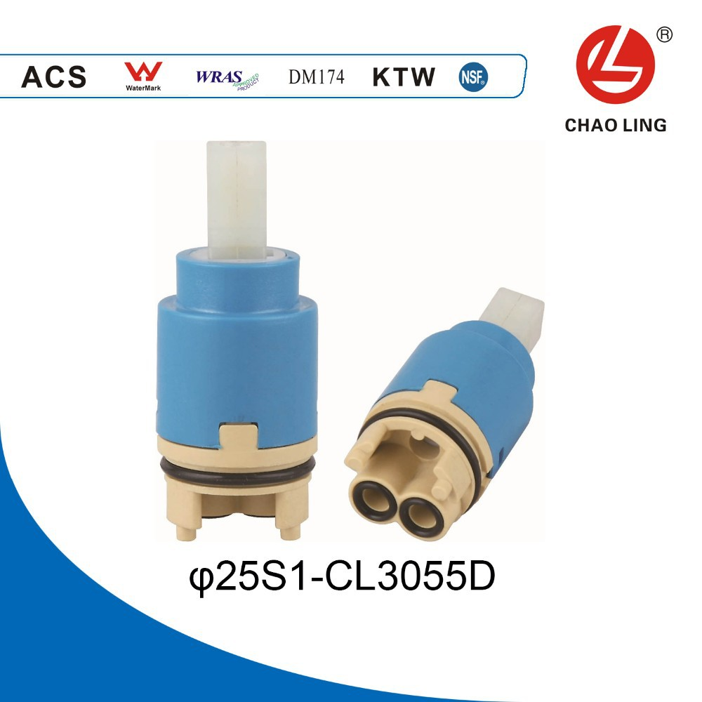 25mm Series Tri-level seal Plastic Shower Faucet Cartridge