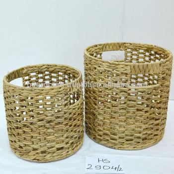 Water Hyacinth Storage Basket/ Round Basket With Organic Fibers Made In  Vietnam(HS