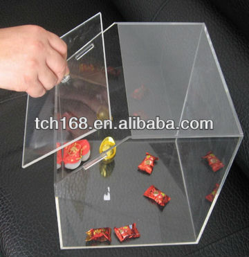 clear acrylic candy box witt lid