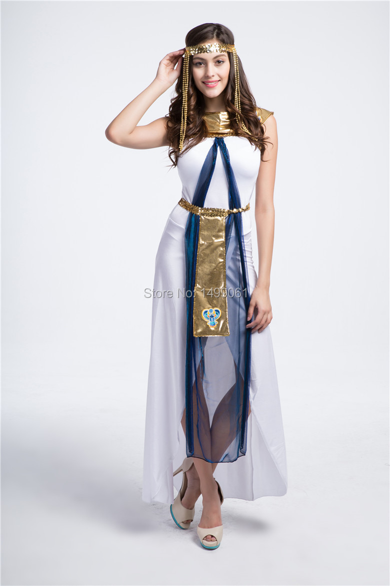 Grecian Queen Costume Goddess Womens Ladies Toga Spartan Fancy Dress Outfit