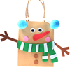 Handmade DIY Kit Snowman EVA handbags EVA Toy DIY Kraft paper bag EVA toy
