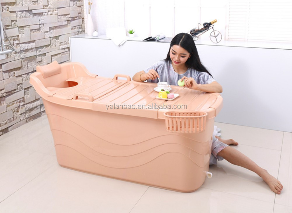 Amazing Big Size Portable Bathtub Food Grade PP5 Material Plastic Bathtub For Adult