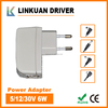 slim adapter 12V 6W 500mA with EU,UK,AU,US,CN plus model PS007 for choose special for LED cabinet lights