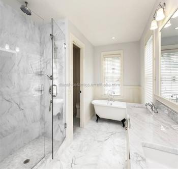 Kerala Vitrified Floor Tiles 24x24 White Carrara Marble