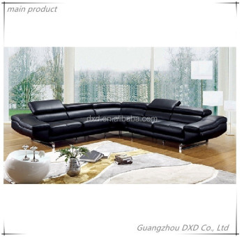 Modern leather sofa in sofa furniture/living room furniture