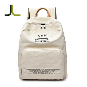 Fashion bagpack canvas bag back pack school bag eco ladies backpack