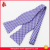 Mens Polyester Grid Purple Self Bow Tie