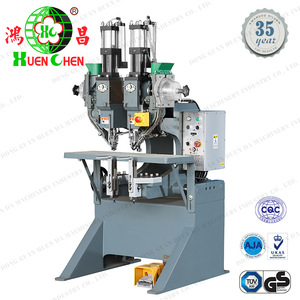Lever arch file folder finger ring riveting machine