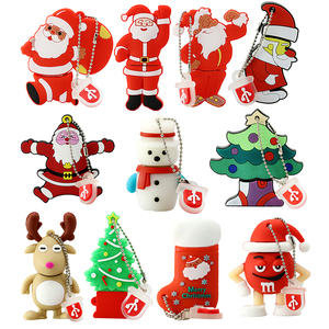Custom usb stick Santa Claus shape soft pvc usb flash drive pen drive christmas usb 4gb 8gb For Christmas Gift