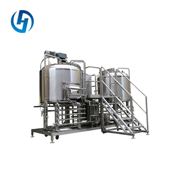 Factory kettle equipment malt mashing alcohol brewing machine