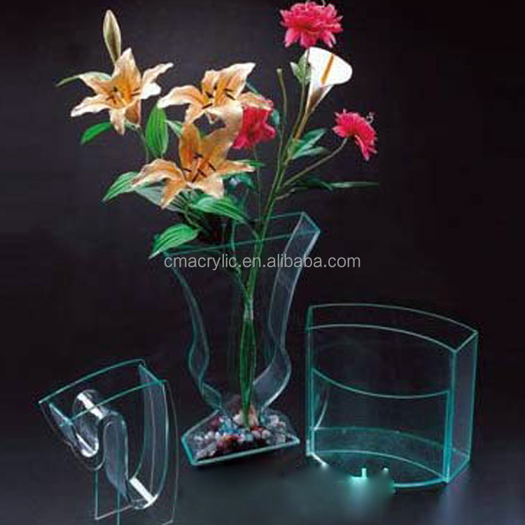 High quality acrylic paslic custom design home office vase furnishing articles