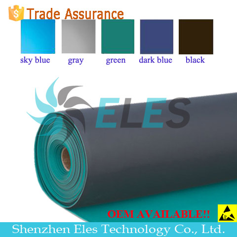 Rubber Material Green/Blue/Grey 2 Layers Glossy or Dull Anti Static Mat ESD Kit