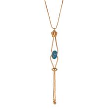 0c035ec7ddca Коробка цепи 24 К Позолоченные медная корона аксессуары императорская яшма  бусины модное ожерелье ручной работы ювелирные изделия для женщин