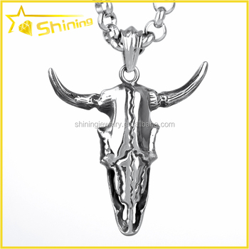 Sx0057 Wholesale Solid 316l Stainless Steel Lucky Chinese Zodiac Ox Pendant  - Buy Chinese Zodiac Ox Pendant,Stainless Steel Lucky Pendant,Solid 316l