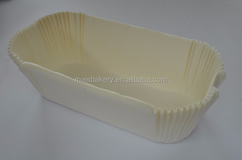 silicone paper white rectangular loaf pan liner