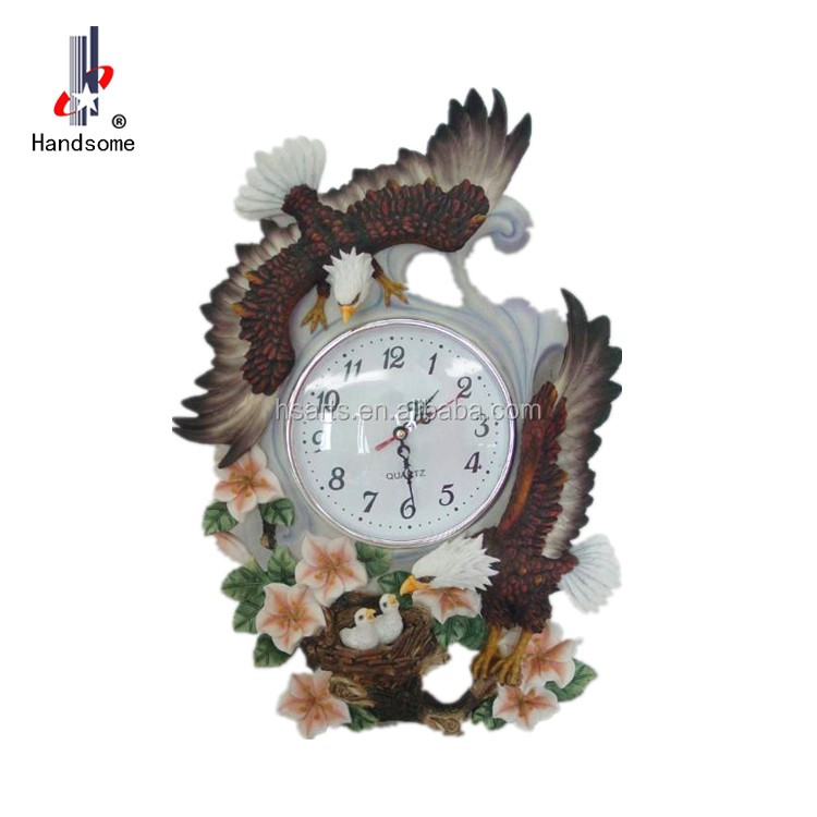 New Design Polyresin Wall Clocks Modern