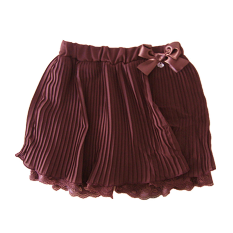 Cute european style pleated chiffon children mini skirts