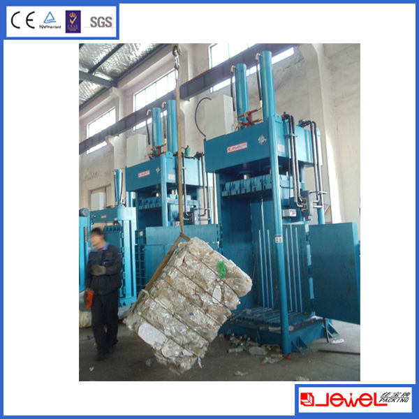Shanghai JEWEL Brand JPA080T100 pet bottle compresses, pet bottle baler machine compress baler with CE SGS TUV ISO certificates