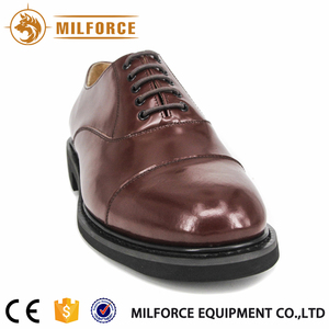 red leather men office formal joint ankle shoe