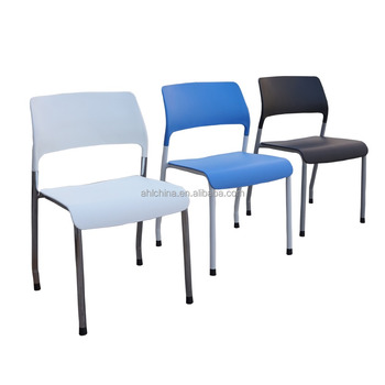 Four legs metal frame plastic seat and back dining chair