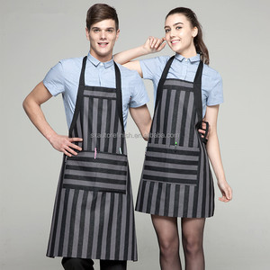 Wholesale Stain Retardant Treated Customized BBQ Pinafore with sleeves Bib Apron Patterns