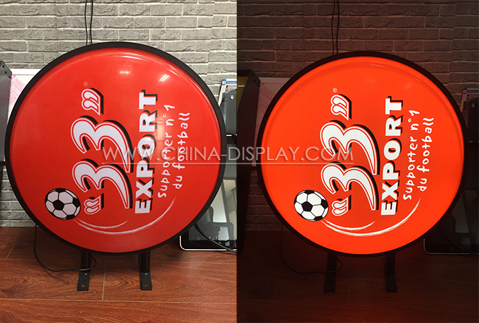 Advertising New Design Outdoor Vacuumed Round Corner Light Box Color Led Resin Epoxy Sign Letter