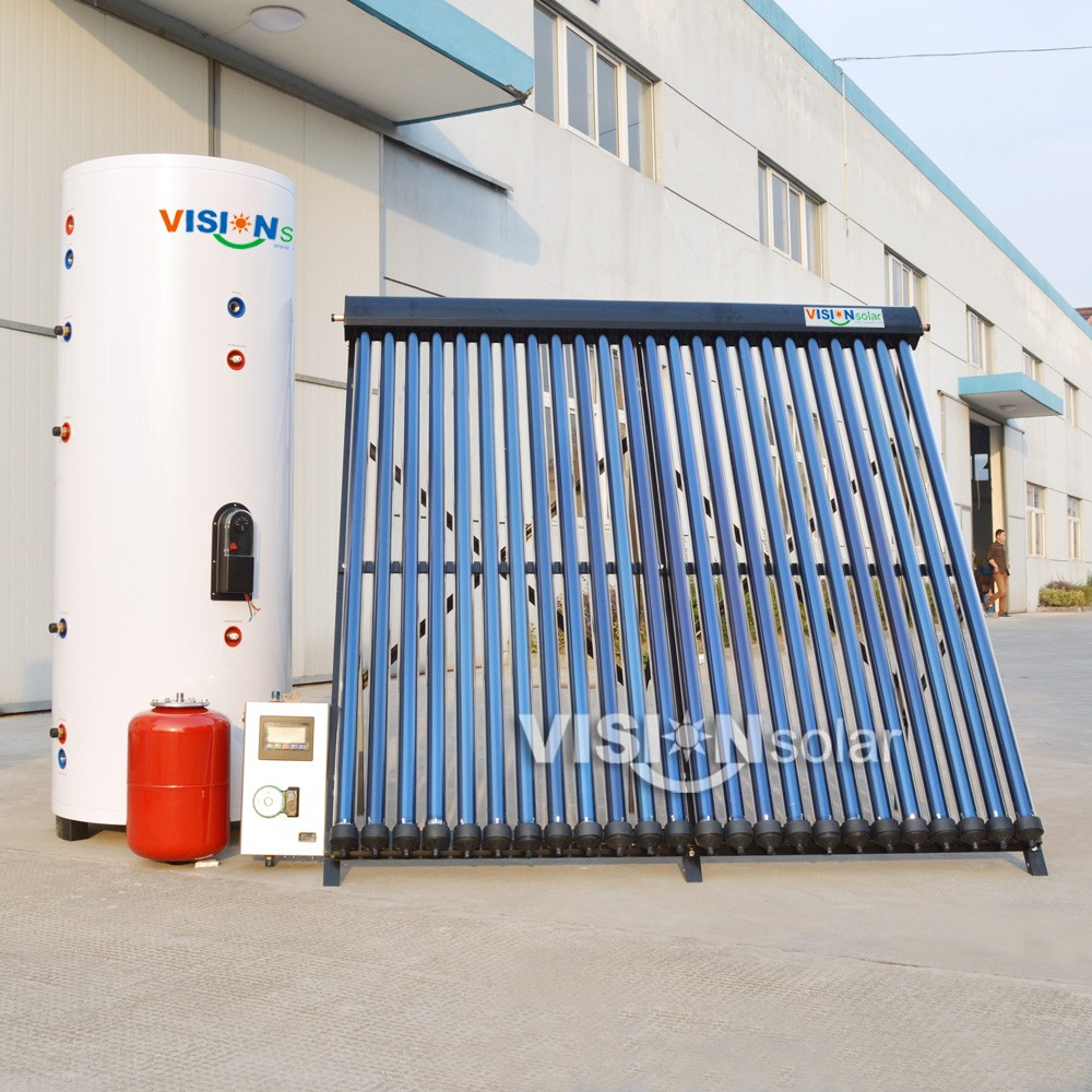 Anti-freezing high pressure split heat pipe solar water system for domestic heating