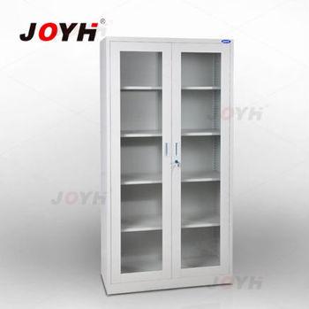 Beau Swing Glass Door Filing Cabinet/ Full Height Steel Cupboard/kd Design Steel  Office Furniture