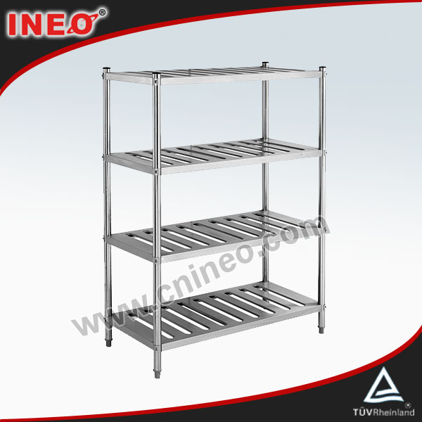 Commercial Restaurant Upright Stainless Steel Kitchen Wire Rack Liance Plastic Storage