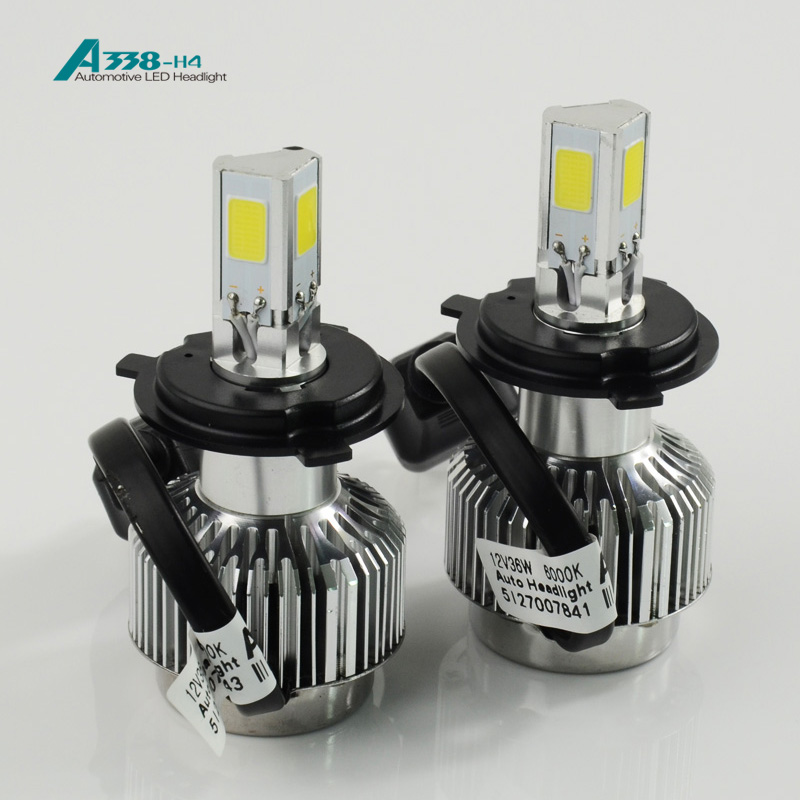 3300lumens brightest waterproof Hi/low beam H4 car led headlight h13 replace hid kit