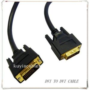 High Quality Gold Plated Black DVI to DVI cable DVI 24+1 FOR SAMSUNG MONITOR DELL
