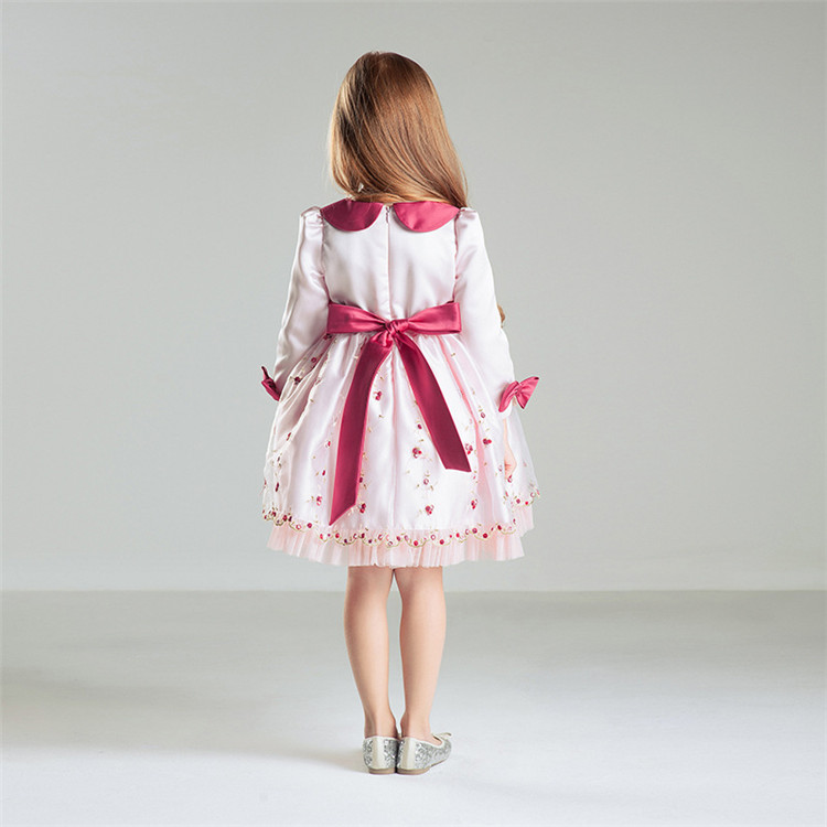 5254a9c96142 For 2 to 12 Years Old Lovely Girls Party Wear Dress Long Sleeve Elegant  Latest Frocks