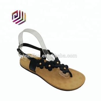 3c3b60b240bd56 Fashion Pvc Shoes Sole Plastic Flower Flip Flop Sandals Lady Flat ...