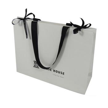 Flat White Paper Bag Luxury Bulk Fancy