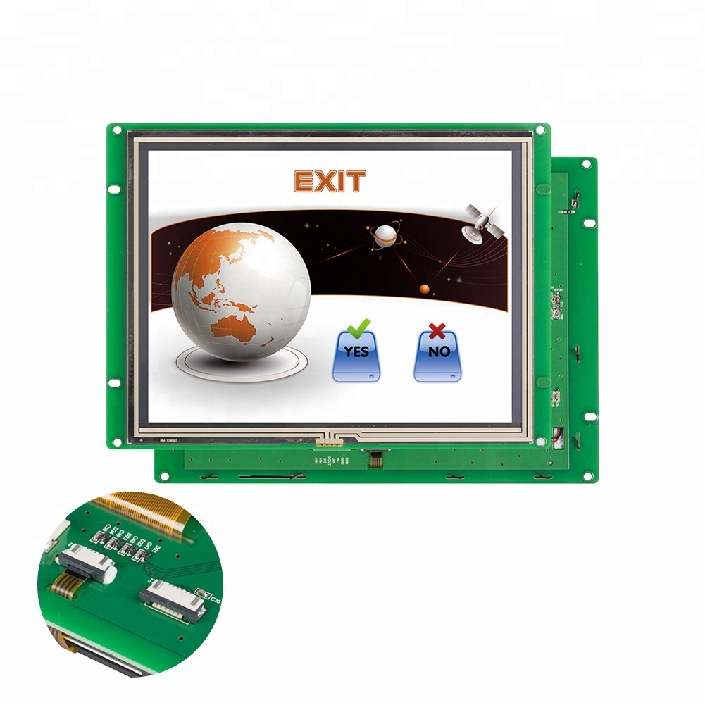 8 inch Touch Screen Monitor Met Cpu/Driver Met Uart/Rs232/Rs485/Ttl Poort