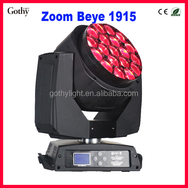 19x15 w led k10 zoom bee eye led moving head