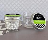 Graduation Themed Mini Mason Jars - 4 oz.