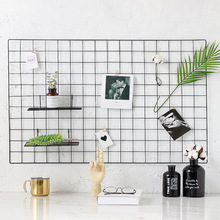 2019 metalen <span class=keywords><strong>draad</strong></span> grid photo wall home decoratie voor muur decoratieve home decor muur