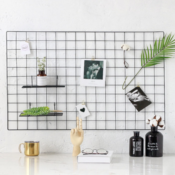 2019 metal wire grid photo wall home decoration for wall decorative home decor wall