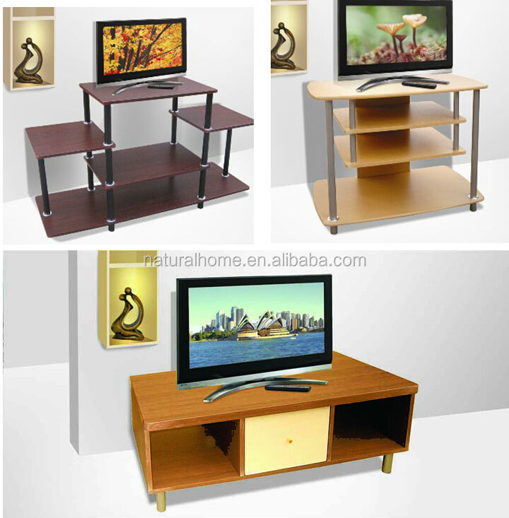 Top Selling For India Kenya DIY Living Room Furniture Dismounted Wooden TV Stand Table Trolley