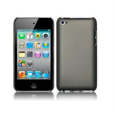 Grey Rubberised Hybrid Hard Back Case Cover For Apple for iPod Touch 4TH Gen