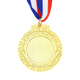 Custom own logo metal gold school blank medals with ribbon