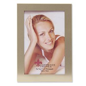 Lawrence Frames Brushed Gold Aluminum Frame, 4 by 6-Inch, Brass by Lawrence Frames