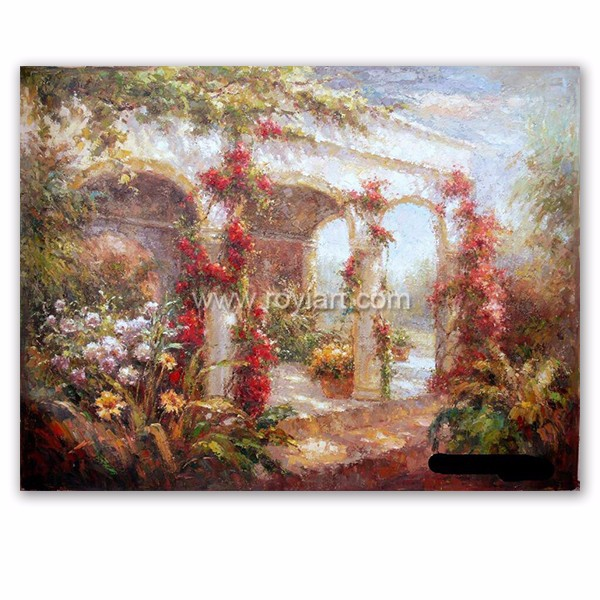 Customized Impressionist art Mediterranean scenery oil painting on canvas