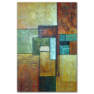 Handmade abstract fabric embossed canvas oil painting art for office
