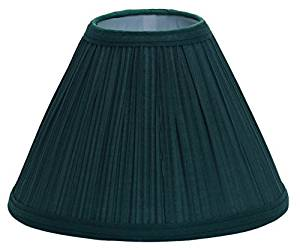 "Deran 401-19-GR 19"" Mushroom Pleat Empire Lamp Shade, 7"" x 19"" x 14"", Green"