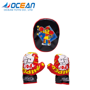 Wholesale cheap custom logo pakistan kids mini boxing gloves set for training